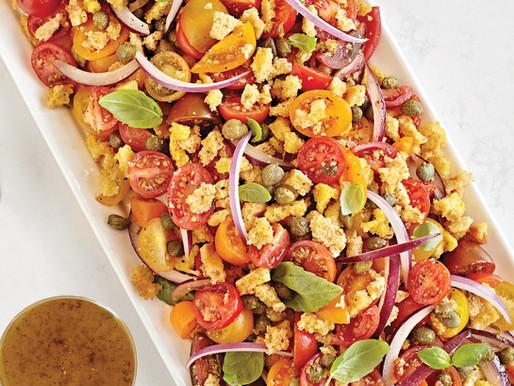 Garlic Toast Crumbles on Salad