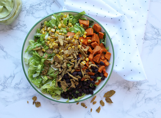 Southwestern Salad with Avocado Dressing and Crispy Hatch Chiles