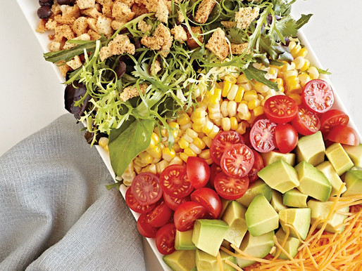 Ranch Crumbles on Salad