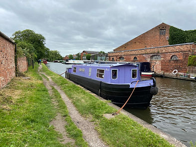 Kwa Heri at her mooring in Shardlow