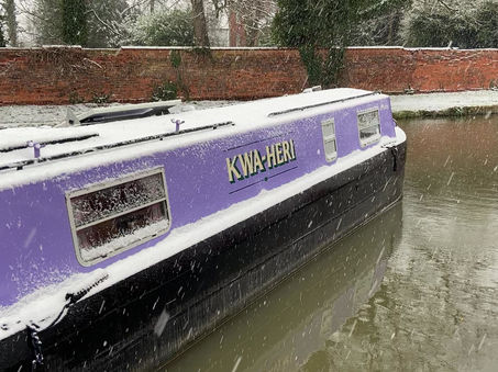 Snow on the Purple Boat