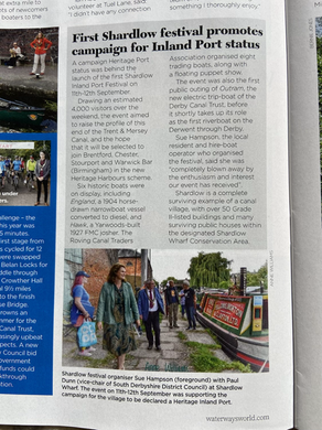Great write up for Shardlow in November issue