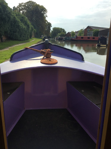 Bow of boat with seating