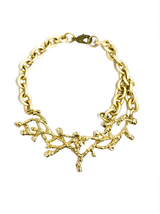 Gold-tone coral necklace