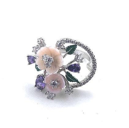 Flower bouquet ring
