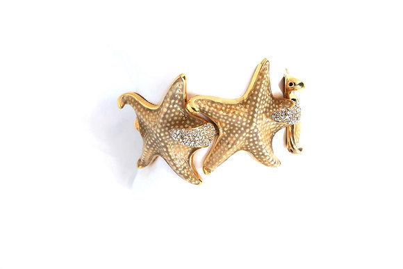 Starfish bracelet with Swarovski crystals