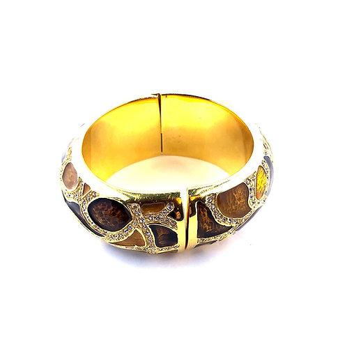Crystal embellished cuff bracelet