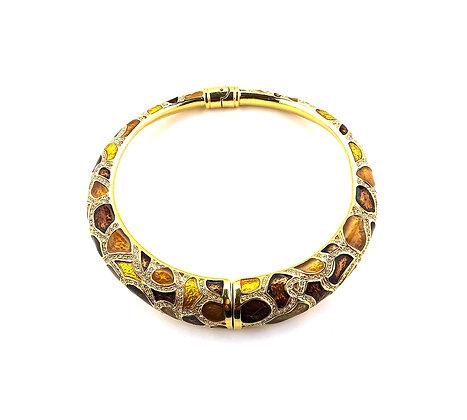 Crystal embellished torque necklace