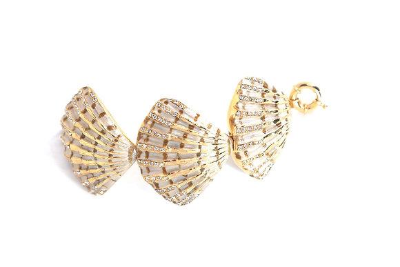Gold-plated seashell bracelet