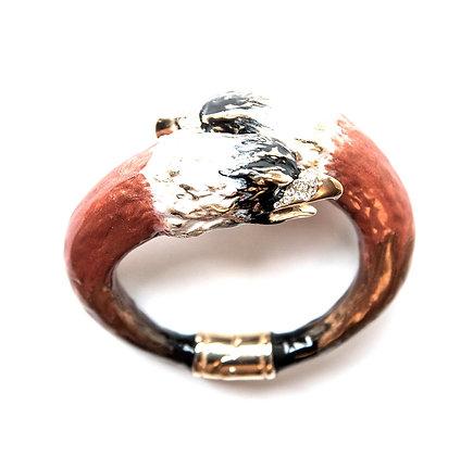 Eagle bracelet with crystals
