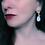 Thumbnail: Moonstone teardrop earrings with flowers