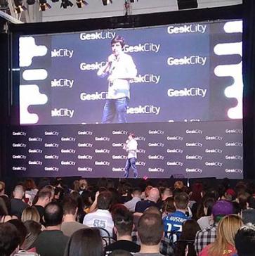 Palestra no Geek City em 2017