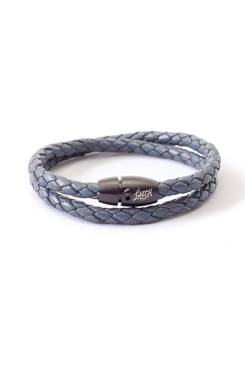 5mm Blue Double Wrap in Black Lock