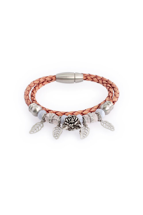 Diana in 3mm Antique Rose Leather