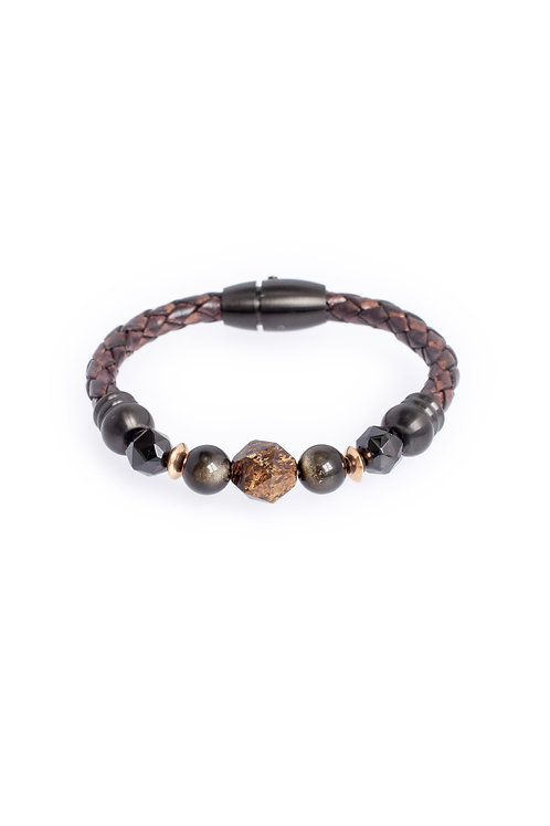 Elaine in 5mm Antique Brown Leather