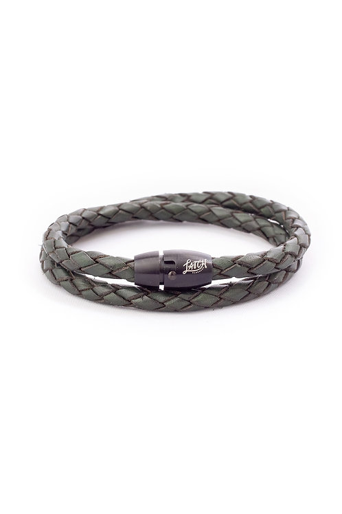 5mm Antique Green Double Wrap in Black