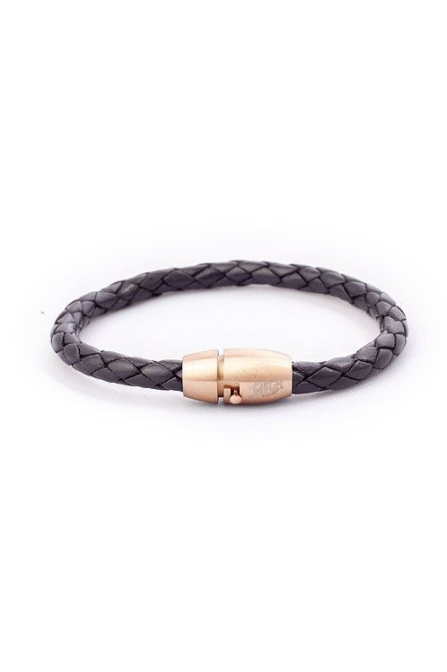 5mm Black in Rose Gold