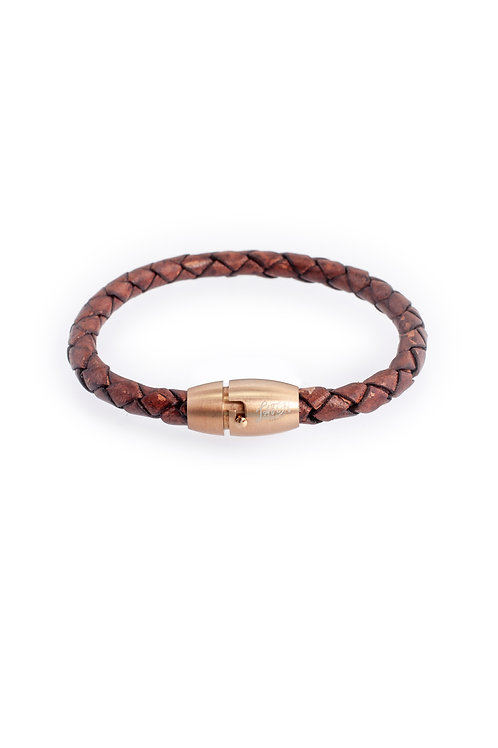 5mm Distressed Brown in Rose Gold