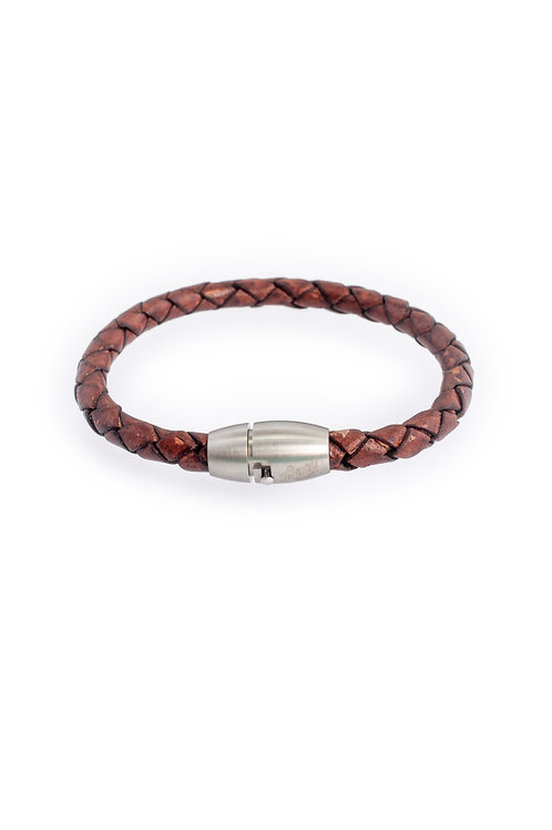 5mm Distressed Brown in Silver