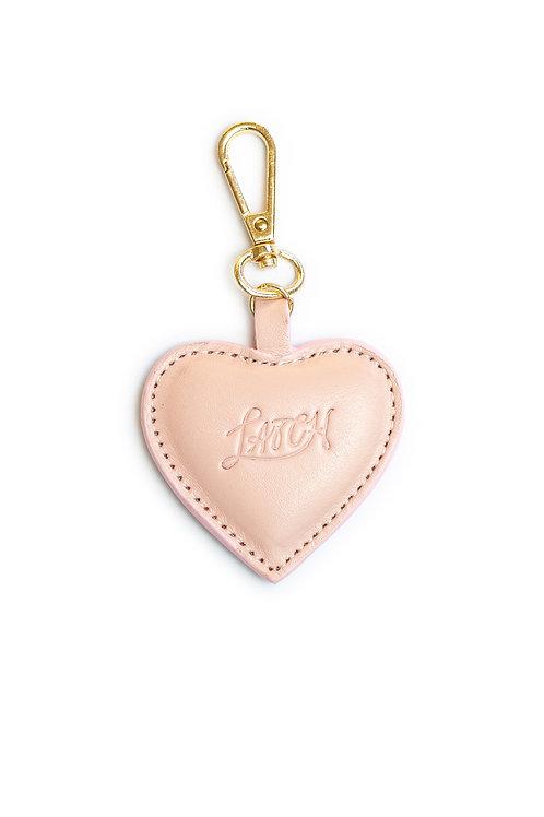 Heart Keychain in Sakura Leather