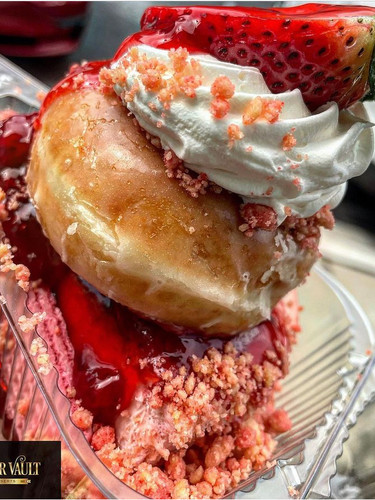 Strawberry Donut Cheesecake