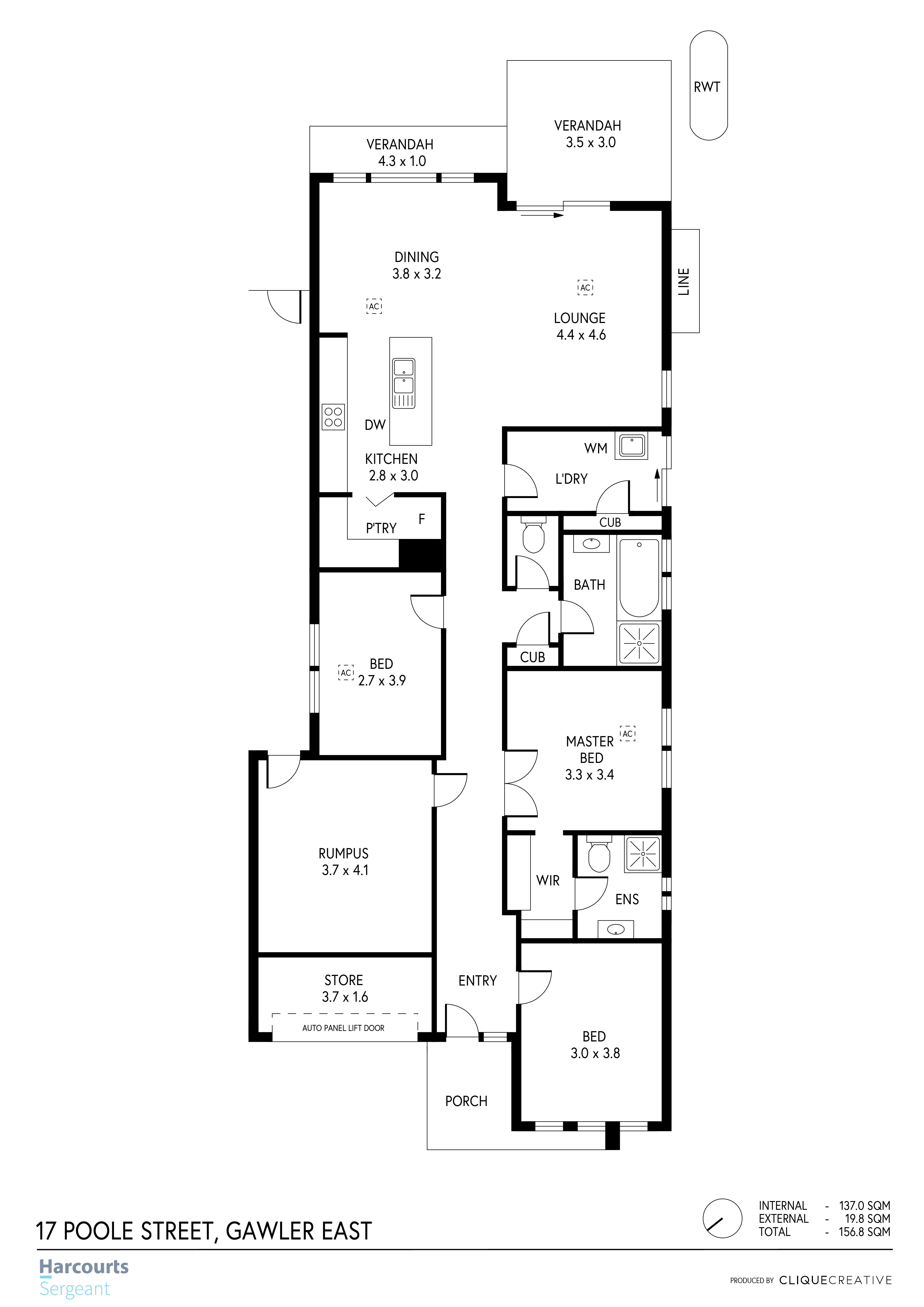 Floorplan - 17 Poole St, Gawler East