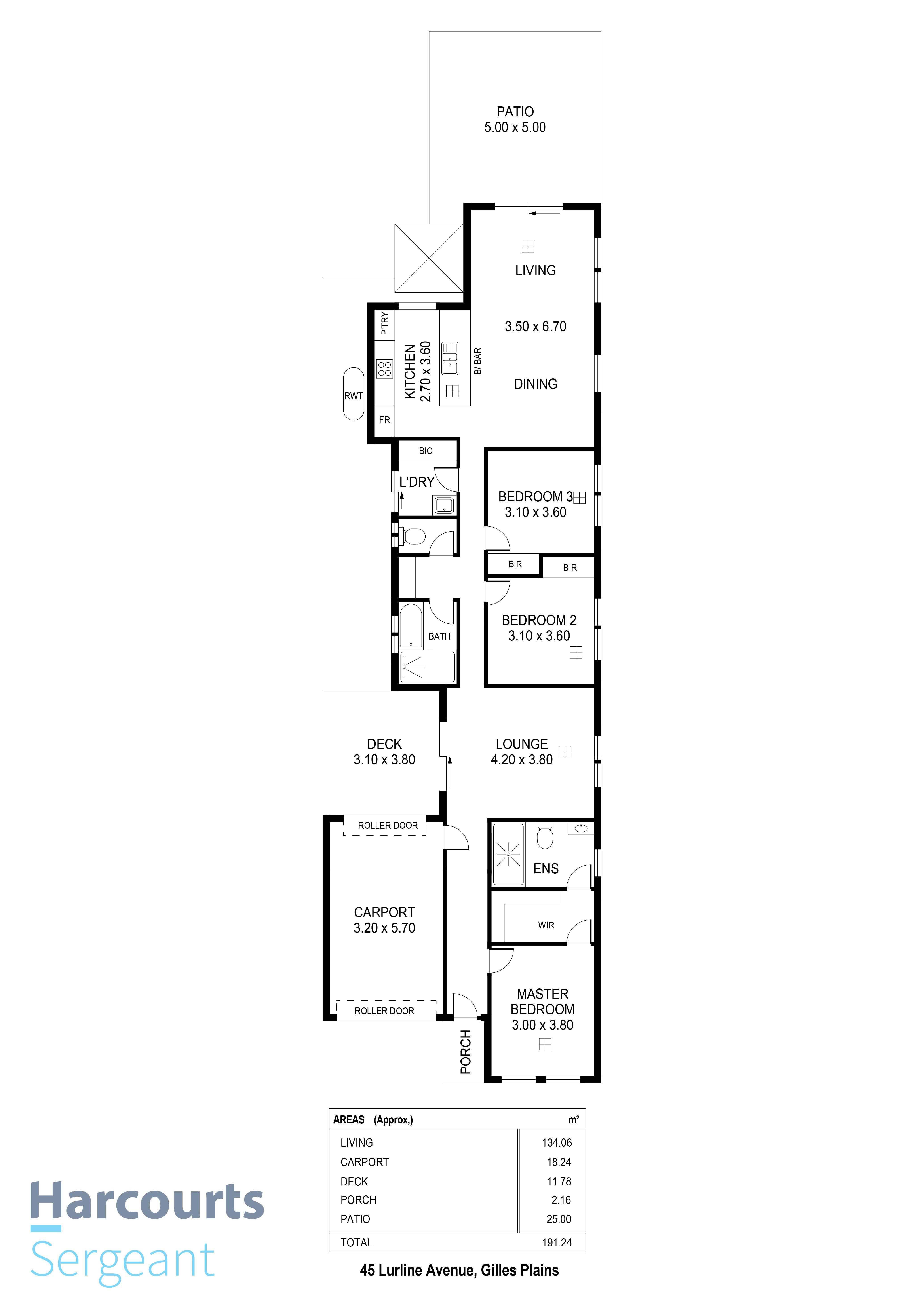 Floorplan - 45 Lurline Avenue, Gilles Pl