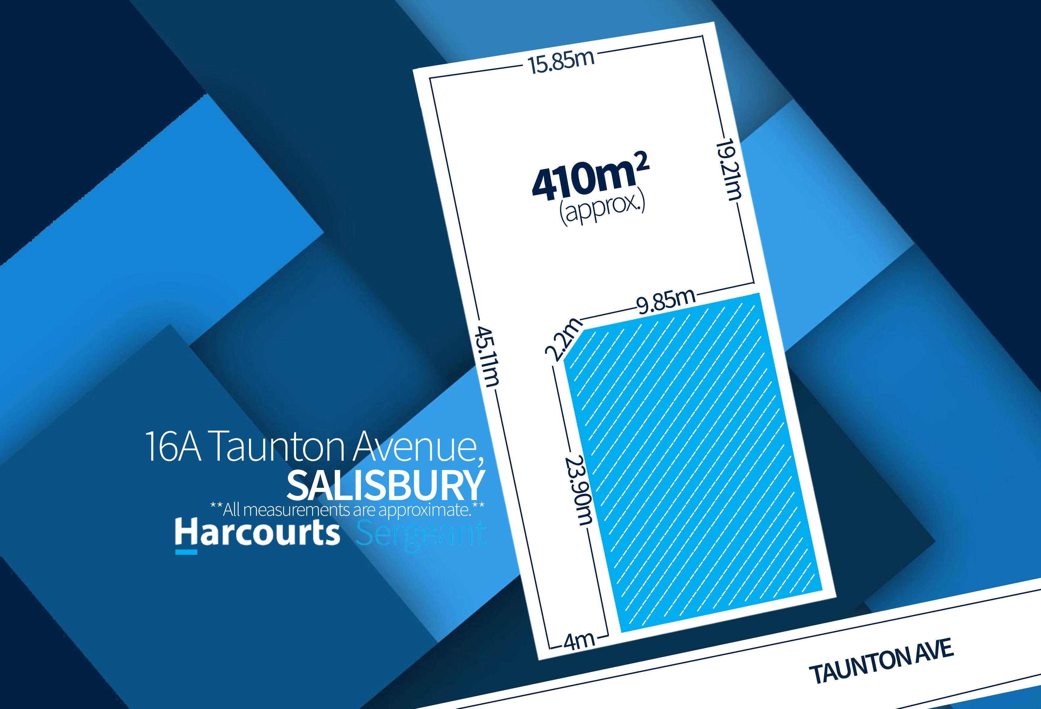 16A Taunton Avenue, Salisbury (Site Plan