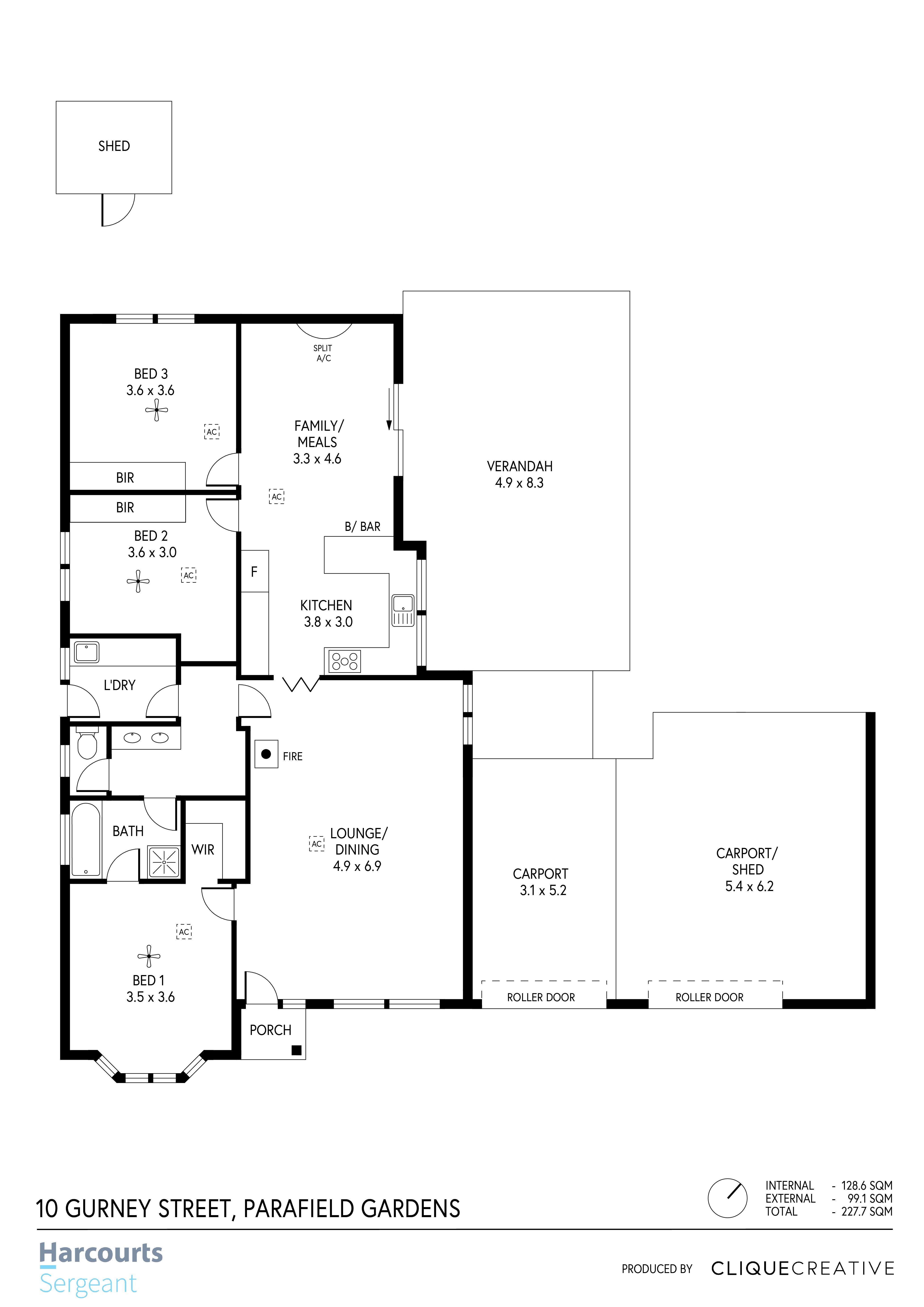 Floorplan - 10 Gurney Street, Parafield