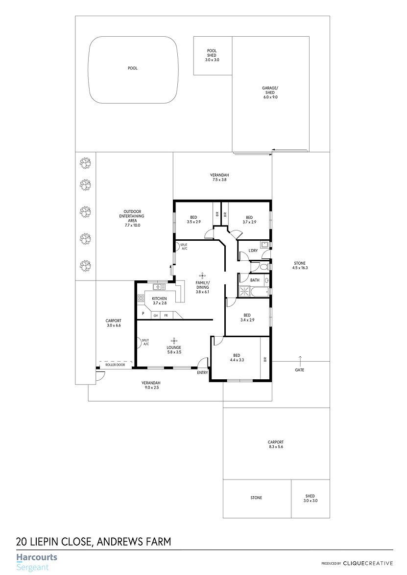 Floorplan - 20 Liepin Close, Andrews Far