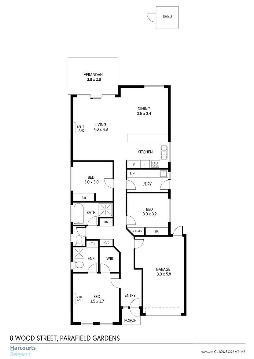 Floorplan - 8 Wood Street, Parafield Gar