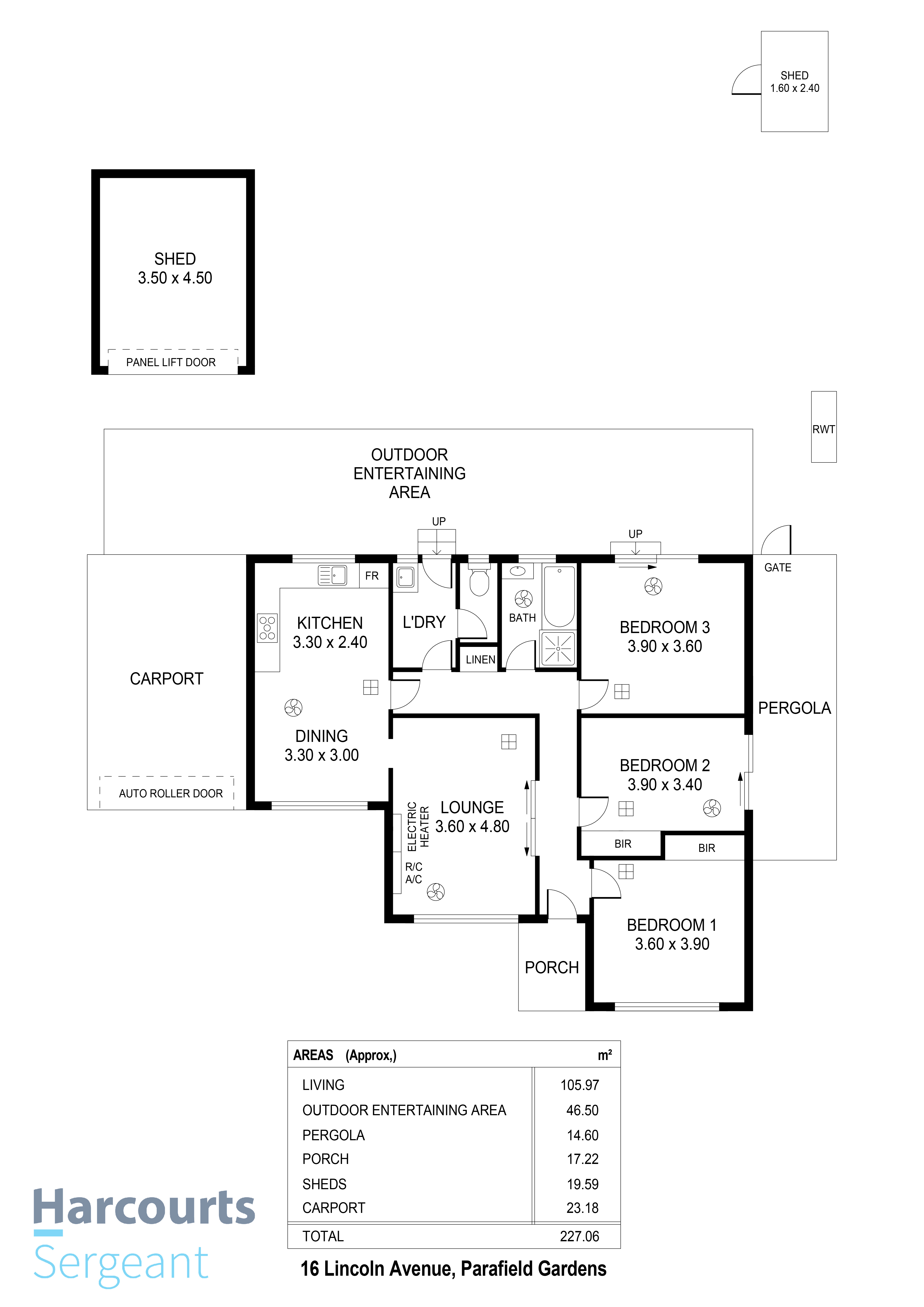 Floorplan - 16 Lincoln Avenue, Parafield