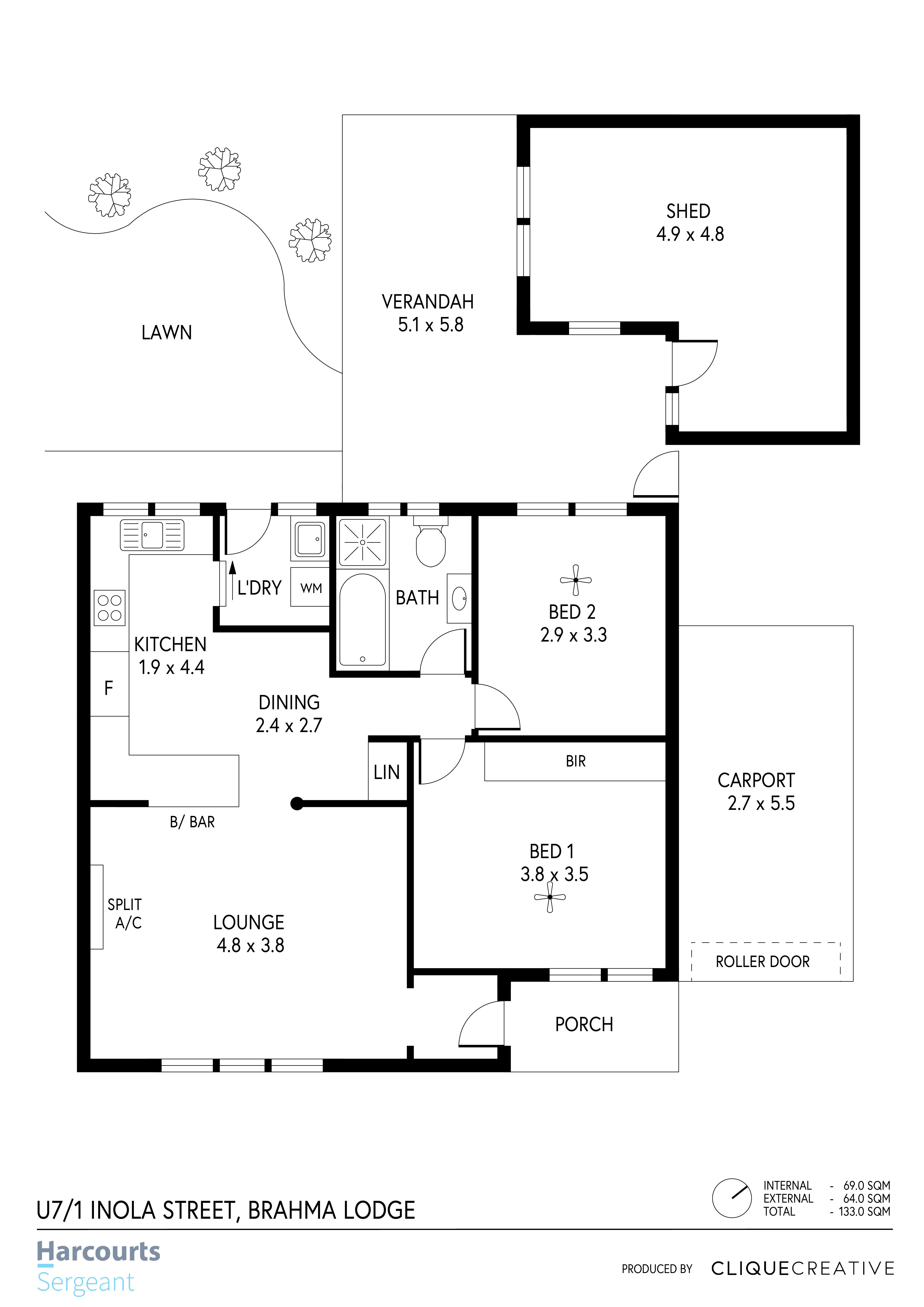 Floorplan  U7-1 Inola Street, Brahma Lod