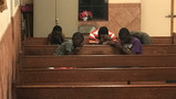 youth group boys praying