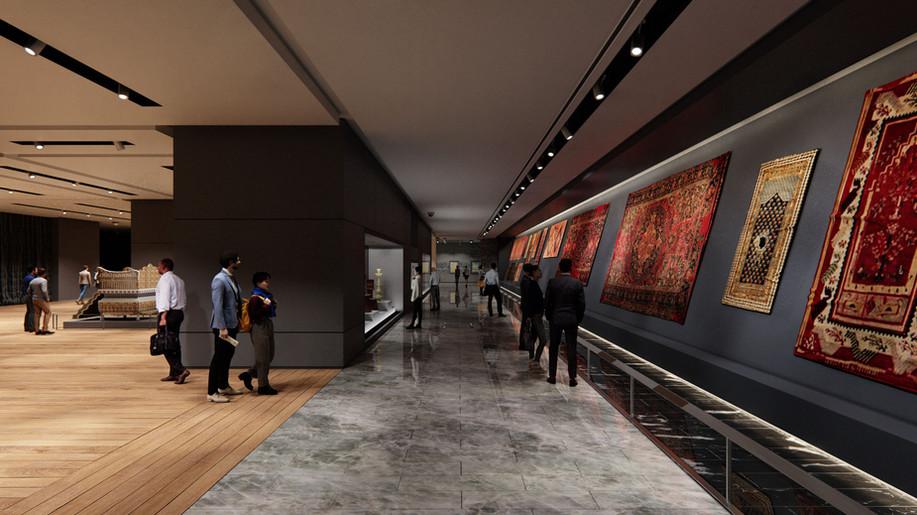 Müze İç Mimari Render