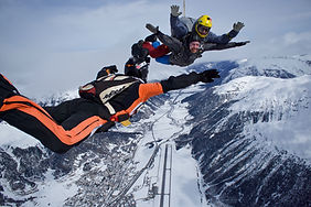 Tandem Skydive with outside video over Samedan