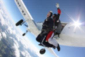 Fallschirm Tandemsprung Exit
