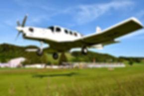 Fallschirm Absetzflugzeug PAC 750 X
