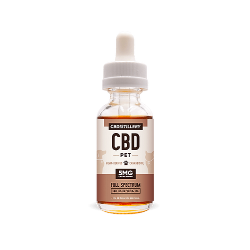 CBD Pet Tincture 150mg/ 5mg Per Serving