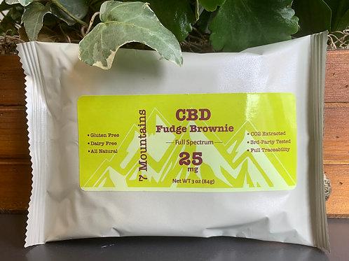 CBD Fudge Brownie Gluten Free (4-pack) -  25mg