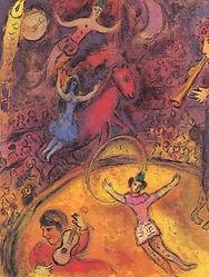 シャガールの絵画の特徴的なモティーフである恋人たちのイメージには、大きく2つの意味がある。まず、シャガール自身の宿命的なミューズ(学芸の女神)であり、最愛の妻であったベラと、自分自身との姿の投影としての意味。そして、愛し合い、生命の誕生を予見させる象徴としての意味である。タイトルの「枝」には、新郎新婦の飛翔する姿を示すものであるのと同時に、植物の枝そのもののように、新たな生命をはぐくむ、成長のイメージが重ねられているのであろう。恋人たが飛翔するセーヌ川の上空には、生命を祝福するかのように、花束が舞い、鳥や人々が飛び交う。