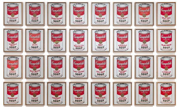 アンディ・ウォーホル『キャンベルのスープ缶』