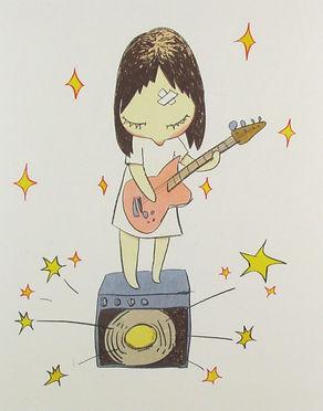 奈良美智『Guitar Girl』