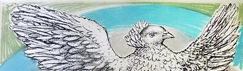 ピカソ「飛ぶ鳩(虹へ)」