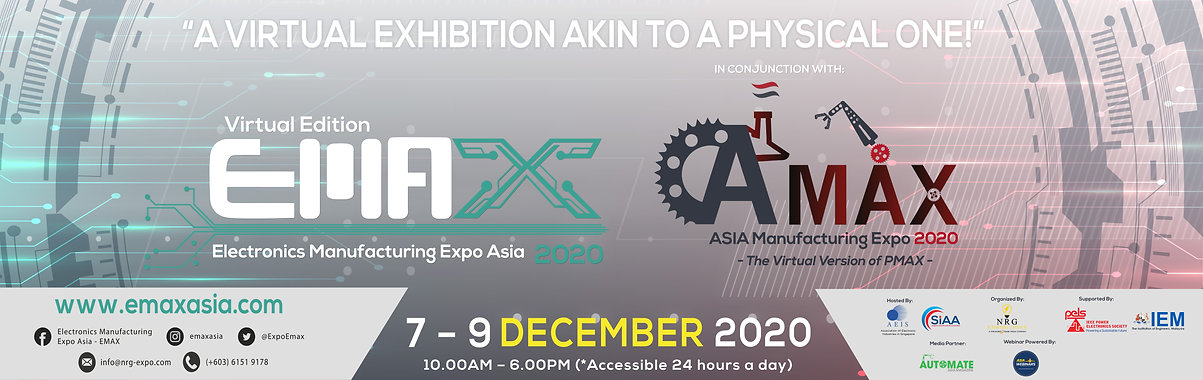 EMAX & AMAX 2020 Virtual Expo Web Banner