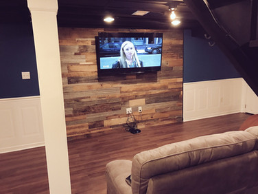 After- Adds warmth to a basement rec area.