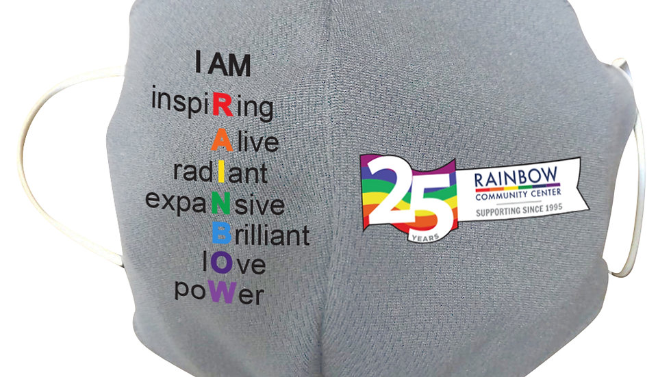 "25th Anniversary ""I AM RAINBOW"" Face Mask - Suggested Donation"