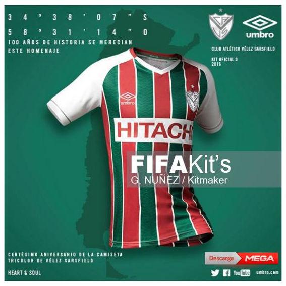 d5c0c55f858 FIFA KIT'S / VÉLEZ SARSFIELD TRICOLOR 2016 / THIRD
