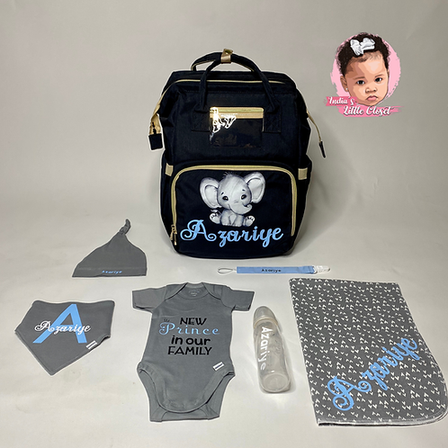 Personalized Traveling Crib Diaper Set