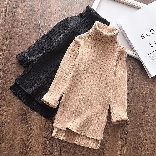 Turtle neck sweater dress